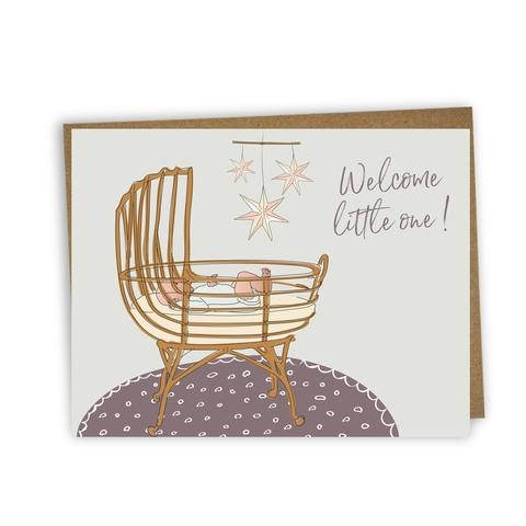Lili Graffiti Bilingual greeting cards  - Welcome little one