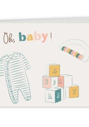 Carte de souhait bilingue  - Oh bébé