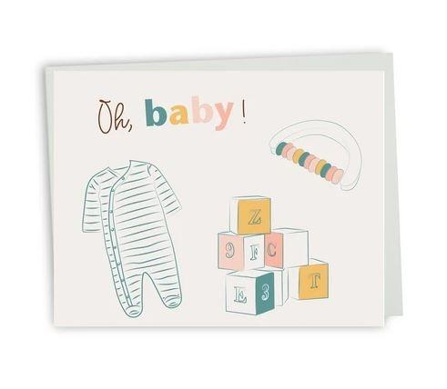 Lili Graffiti Carte de souhait bilingue  - Oh bébé