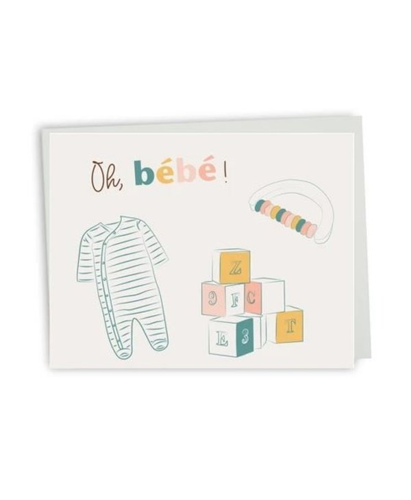 Bilingual greeting cards  - Oh baby