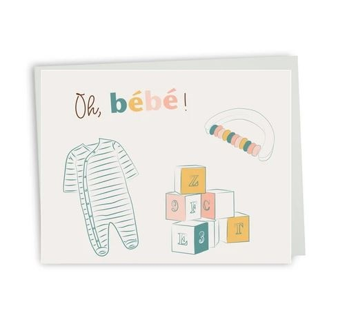 Lili Graffiti Bilingual greeting cards  - Oh baby
