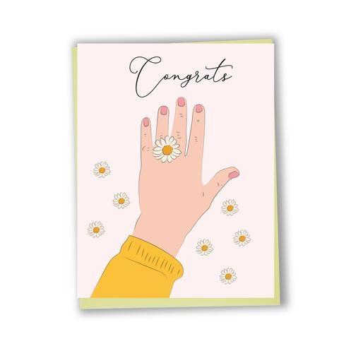 Lili Graffiti CS110 - Bilingual greeting card  - Congrats