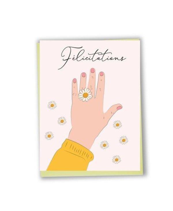 CS110 - Bilingual greeting card  - Congrats
