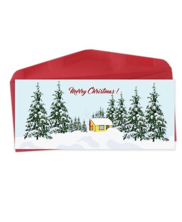 CS58 - Bilingual greeting cards  - Merry Christmas