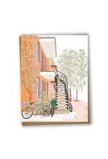 Lili Graffiti Greeting Card - Montreal Autumn