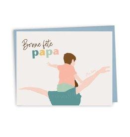 Lili Graffiti Card - Bonne Fête Papa (Fr)