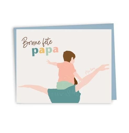 Lili Graffiti Greeting card - Bonne Fête Papa
