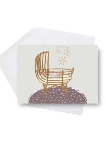 Mini carte - Bébé berceau