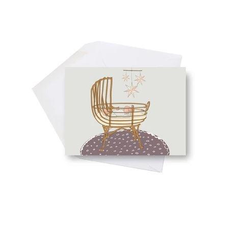 Lili Graffiti Mini Card- Baby Cradle