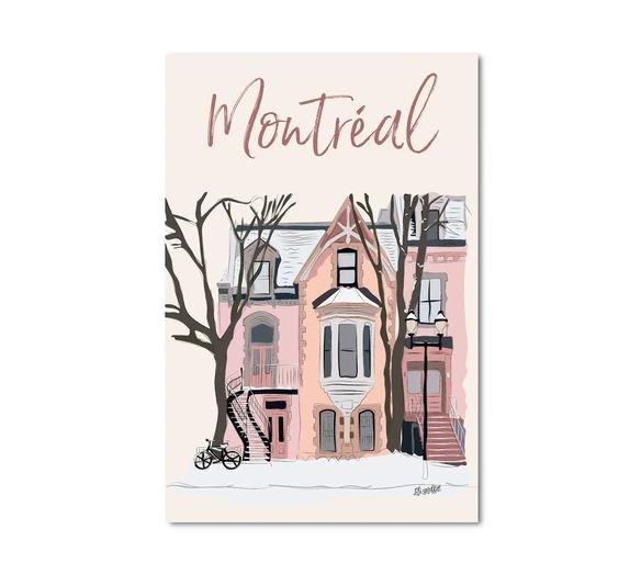 Lili Graffiti Carte postale - Maison plateau