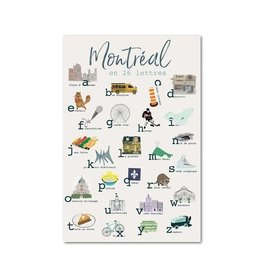 Lili Graffiti Post Card - Montreal Alphabet