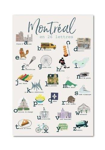 Post Card - Montreal Alphabet