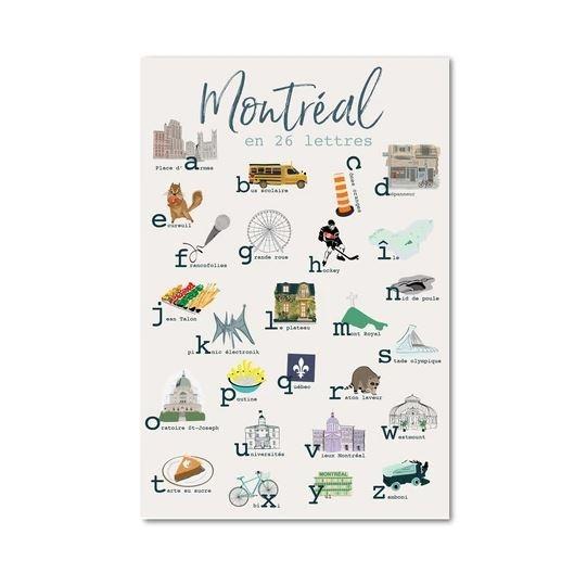 Lili Graffiti Carte postale - MTL 26 lettres