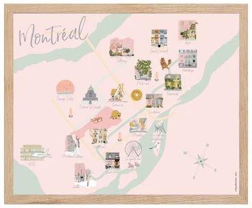 Lili Graffiti Big Map of Montreal
