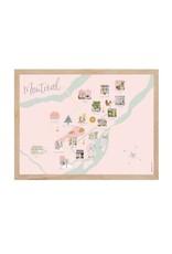 Lili Graffiti Small Map of Montreal