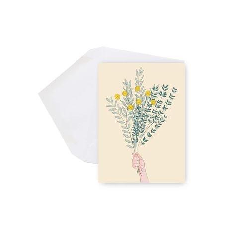 Lili Graffiti Mini Card -Bouquet