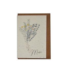 Lili Graffiti Plantable Seed Card - Merci