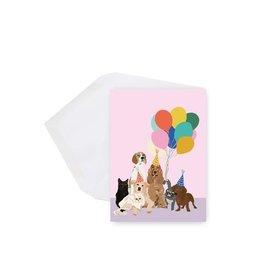 Lili Graffiti Mini Card - Dogs and Balloons