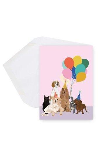 Mini carte - Chiens et ballons