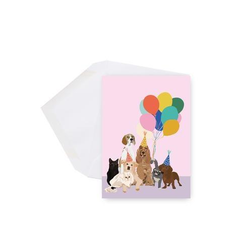 Lili Graffiti Mini carte - Chiens et ballons