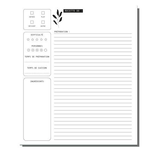 Lili Graffiti Recipe Notebook