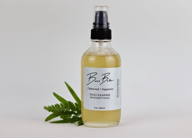 Bees Butter Nettoyant pour le visage menthe et bois de cèdre