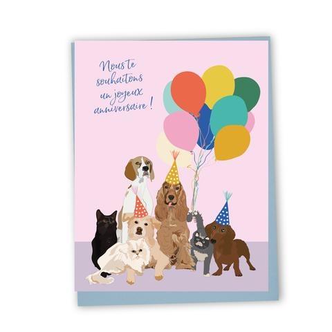 Lili Graffiti Bilingual Greeting Card - Happy Birthday
