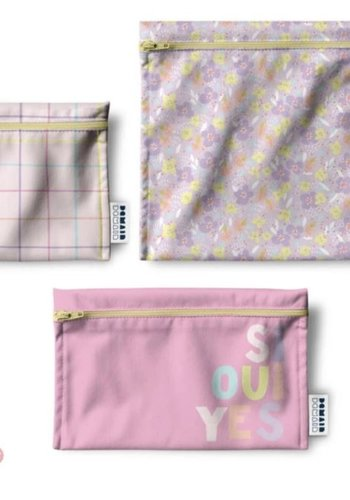 Trio of reusable bags - Abstract Collection
