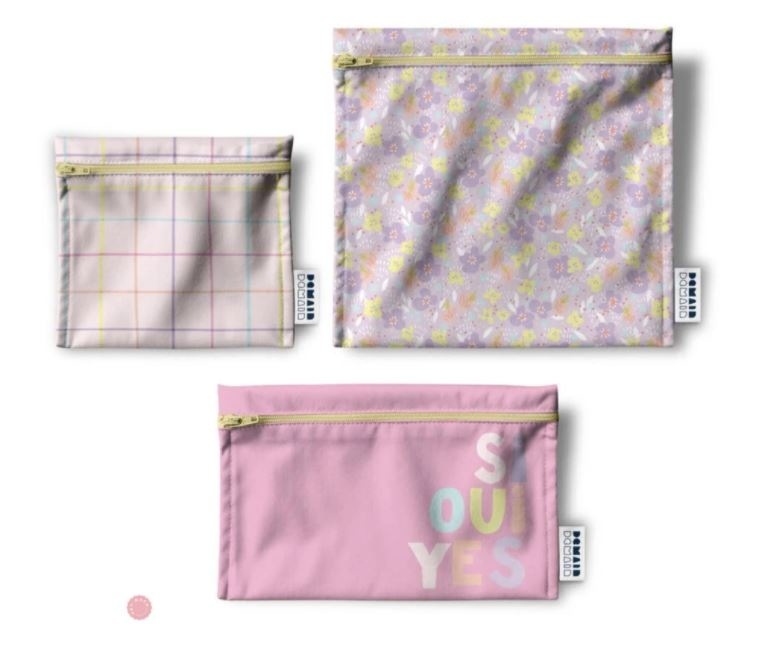 HeyMaca Trio of reusable bags - Abstract Collection