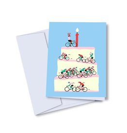 Vincent Toutou Happy Birthday Bicycles Card