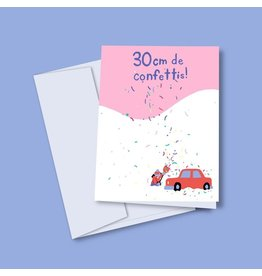 Vincent Toutou 30cm of Confetti Greeting Card