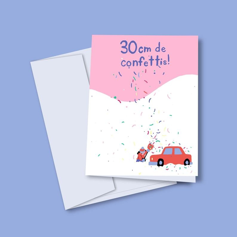 Vincent Toutou 30cm of Confetti Greeting Card