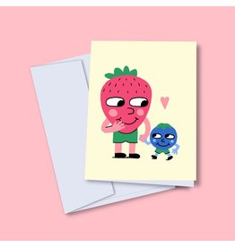 Vincent Toutou Strawberry Blueberry Greeting Card