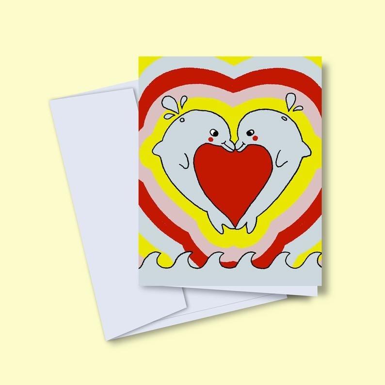 Vincent Toutou Dolphins Greeting Card