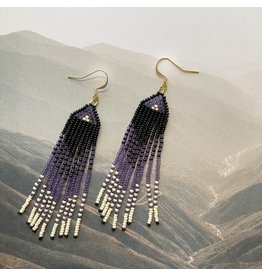 La Gordita Purple Ombre Drop Earrings 18710