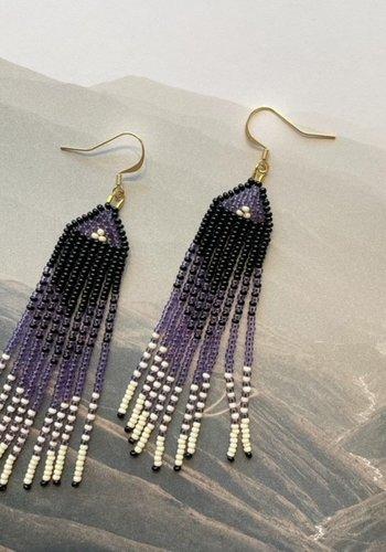 Boucles d'oreilles violet ombré 18710