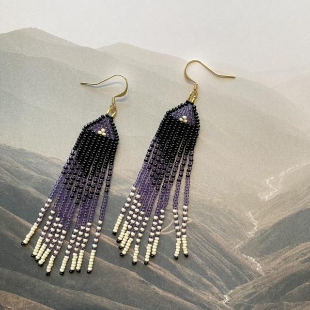 La Gordita Boucles d'oreilles violet ombré 18710
