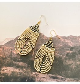 La Gordita Champagne Loop Earrings 18705
