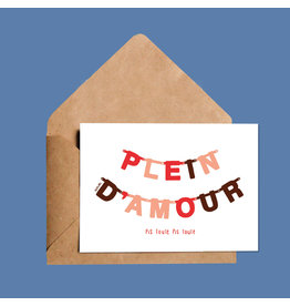 Darveelicious Plein d'Amour Pis Toute Greeting Card