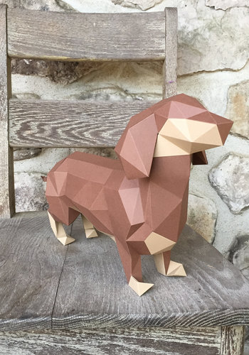 3D Paper Model - Dachshund Puppy