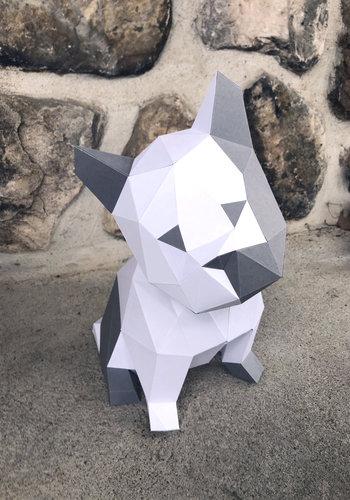 3D Paper Model - Puppy