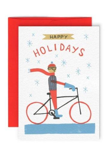 Bike Holiday Greeting Card