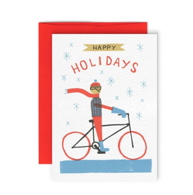 Paperole Bike Holiday Greeting Card