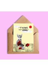 So Meow Greeting Card -- Je taime mon minou