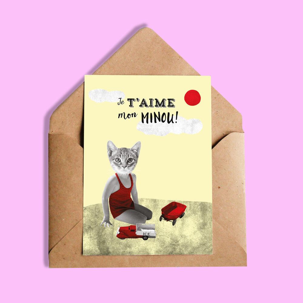 So Meow Carte de souhait -- Je taime mon minou