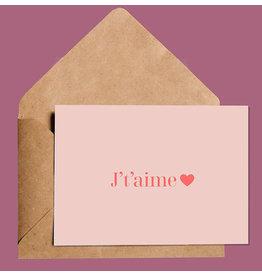 Sylvie Simplicité Greeting Card --  J't'aime
