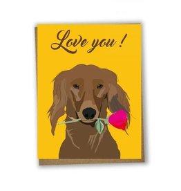 Lili Graffiti Love You Dog Greeting Card
