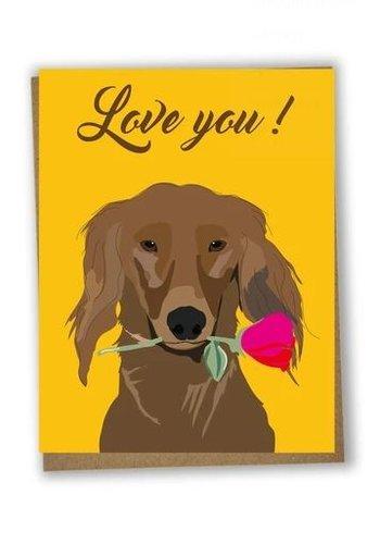 Carte de souh. Love You Dog