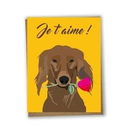 Lili Graffiti Carte de souh. je t'aime chien