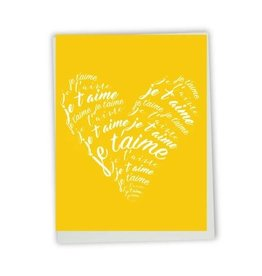 Lili Graffiti Carte de souhait - Je t'aime coeur